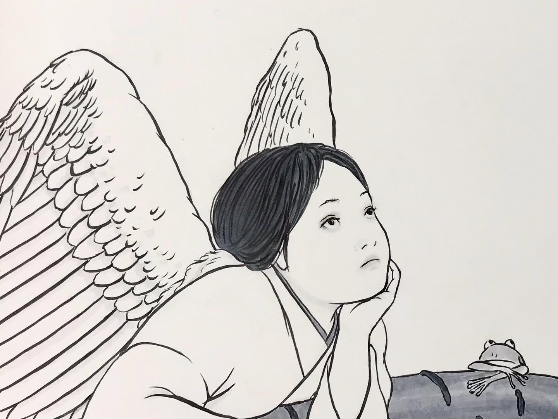白い鳥と桜2 SHIROITORI