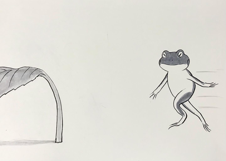 カエルのおじさん跳馬に挑戦 CHOBA