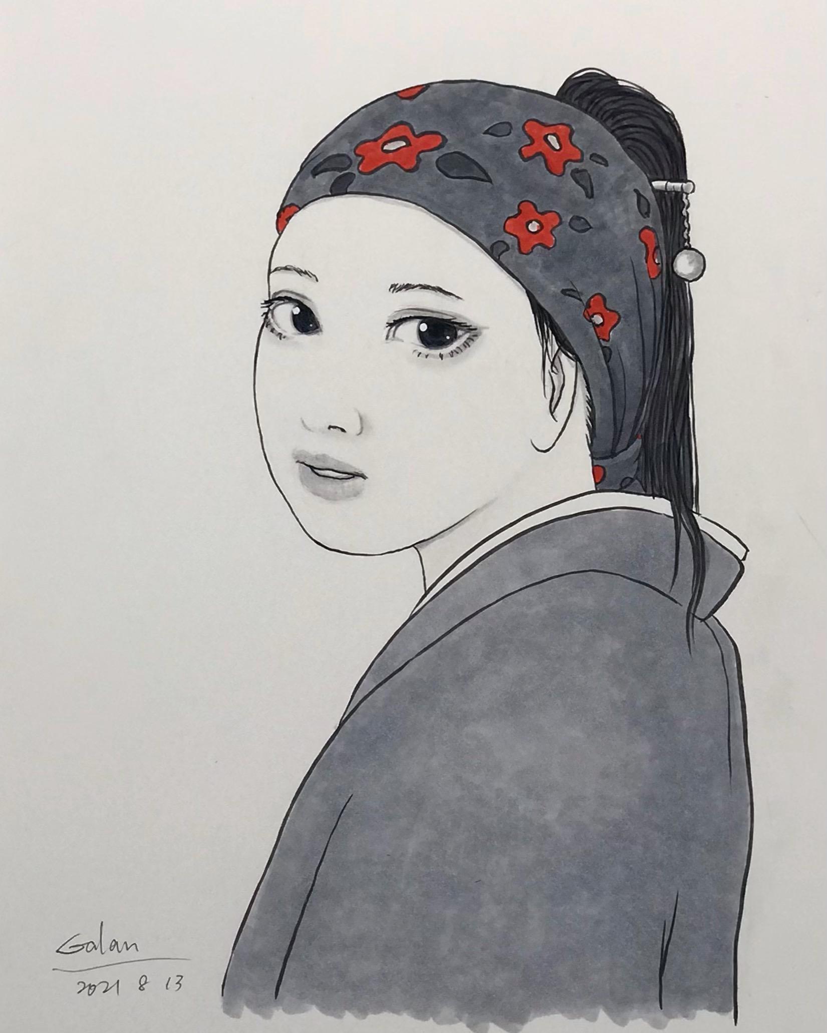 真珠の髪飾りの少女2021 VERMEER