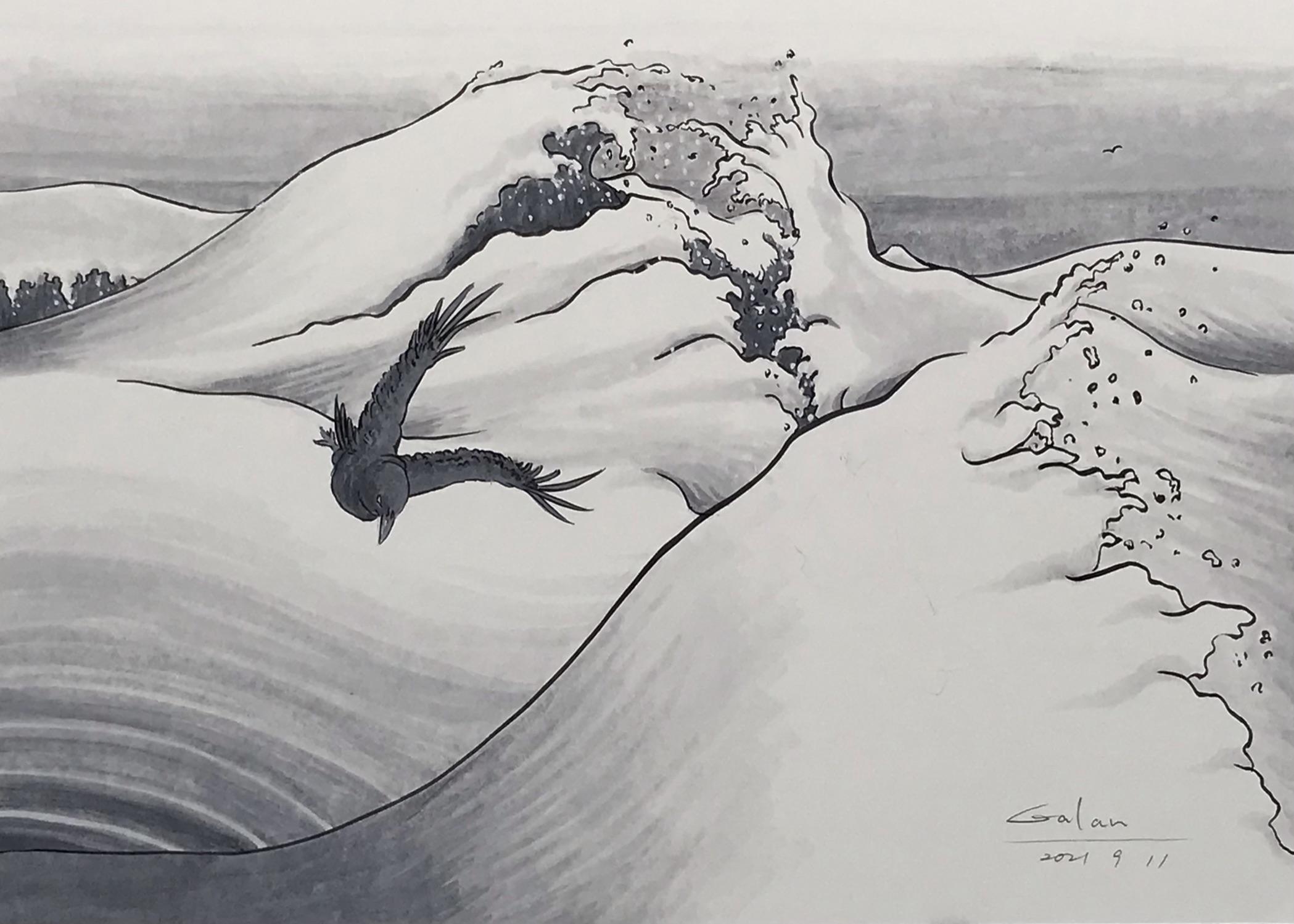 波と烏 KARASU