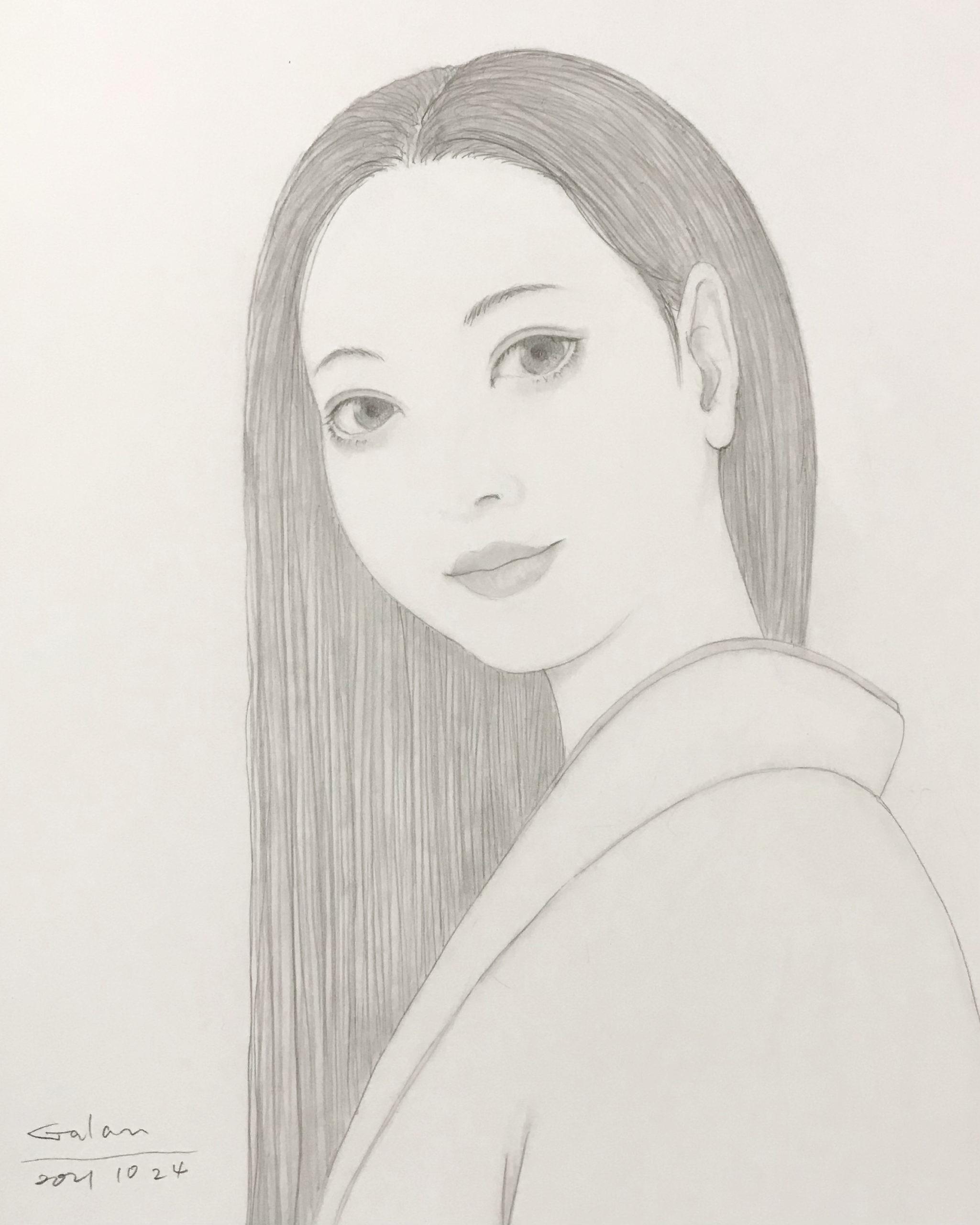 鉛筆で美人画 BIJINGA